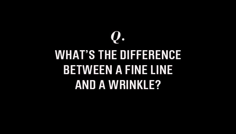 Dr. Robyn Gmyrek explains the difference between fine lines and wrinkles